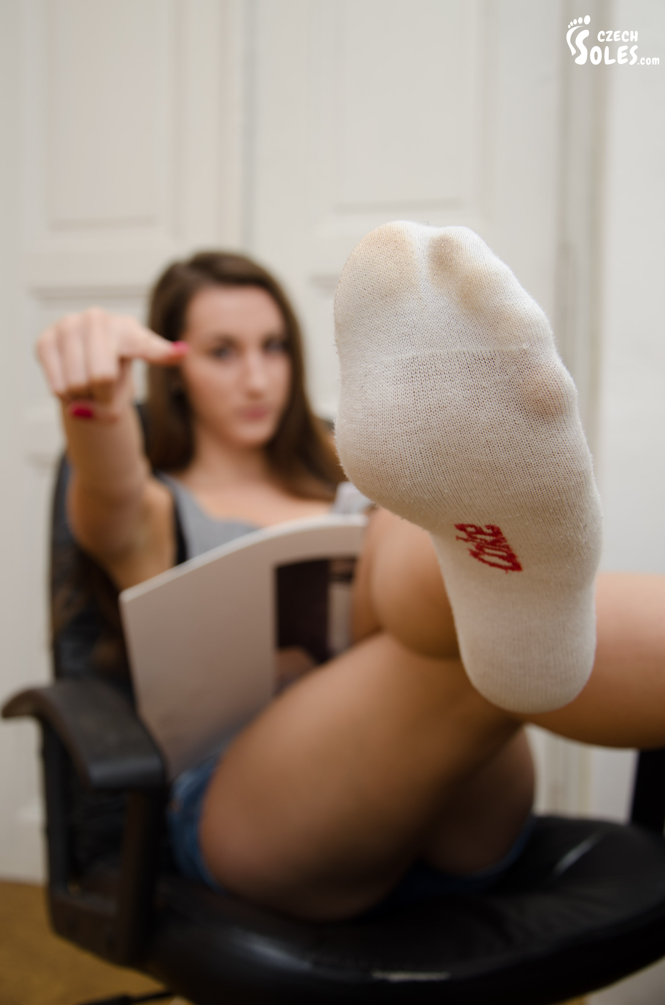 female sock worship