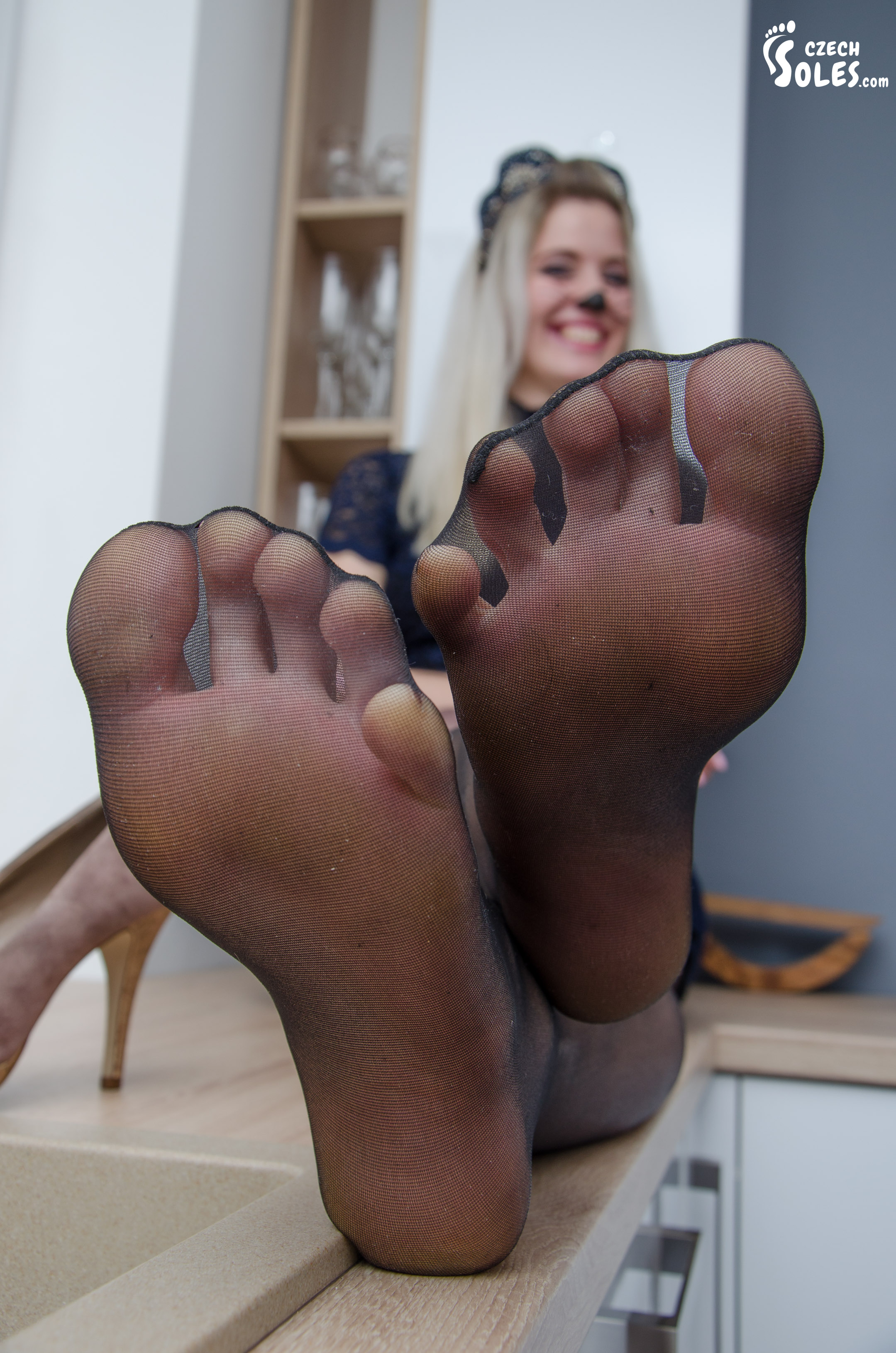 Girl worship feet sock fetish